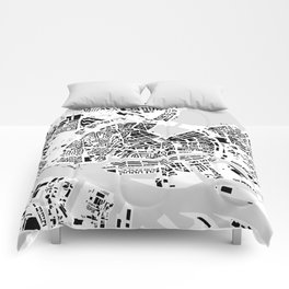 Hamburg building city map Comforters