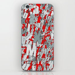 The letter matrix RED iPhone Skin