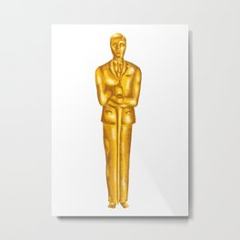 Alan Turing - Oscar Statue Metal Print