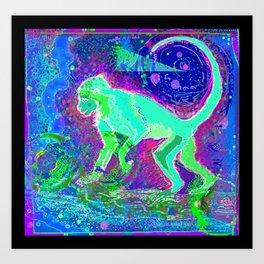 Monkey dreamer Art Print