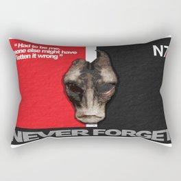 NEVER FORGET - Mordin Solus- Mass Effect Rectangular Pillow