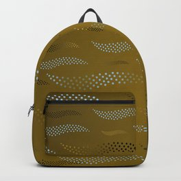 Waves / Tiger (stylized pattern) 3 Backpack