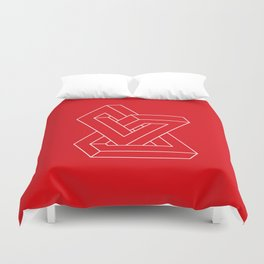 Optical illusion - Impossible figure Duvet Cover