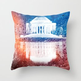 Jefferson Memorial - Vibrant Acrylic Fantasy Throw Pillow