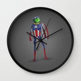 Captain Kermit Wall Clock