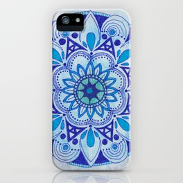 Simpe Blue Mandala iPhone Case