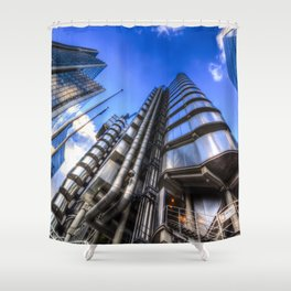 Lloyd's and Willis Group and Cheese Grater London Shower Curtain