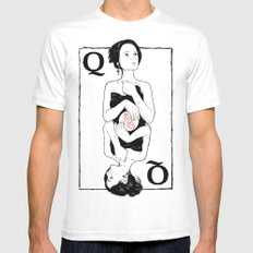 Queen of Hearts Mens Fitted Tee White MEDIUM