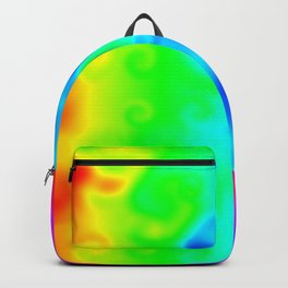 Cloudy Rainbow Heat Map Backpack