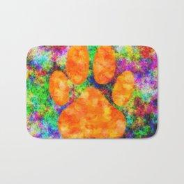 Dog Paw Print Watercolor Bath Mat
