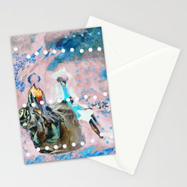 The Lovers In Pink Stationery Cards