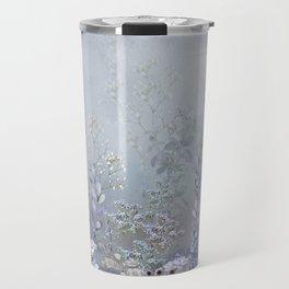 Misty Blue Garden Travel Mug