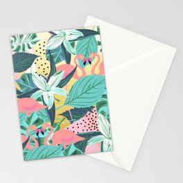 Flamingo Tropical #society6 #decor #buyart Stationery Cards