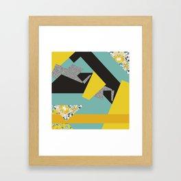 bee' flower geometric Framed Art Print
