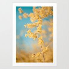 I Dream In Yellow Art Print