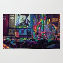 Tokyo Nights / Shibuya Neon Noir / Rain / Liam Wong Rug