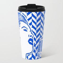 Lady Day (Billie Holiday block print) Travel Mug
