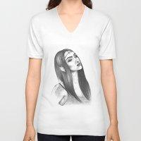 elf V-neck T-shirts featuring Elf Magic by zbrozhek