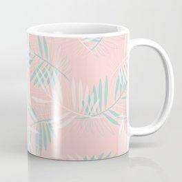 Palm Leaves Lace on blush Coffee Mug