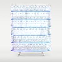 bohemian Shower Curtains featuring bohemian by studiomarshallarts