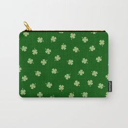 Green Shamrocks Green Background Carry-All Pouch