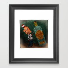 A Vocational Hazard for a Career Drunk Framed Art Print