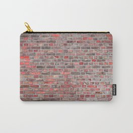 brick wall background - red vintage stone Carry-All Pouch