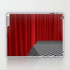 Twin Peaks Black Lodge with Chevron Floor and Red Curtains  Laptop & iPad Skin