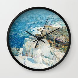 Childe Hassam The South Ledges Appledore Wall Clock