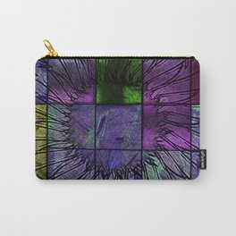 Purple stained glass Carry-All Pouch