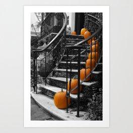 Pumpkins Ascend Art Print
