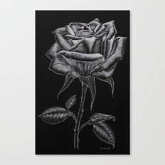 Silver Rose Canvas Print