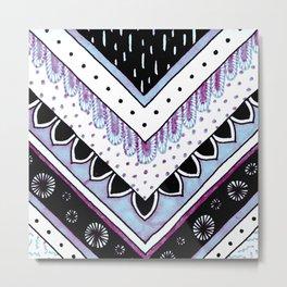 Iridescent Feathers Metal Print
