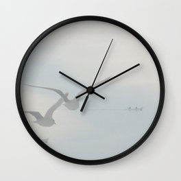 Two times two in a boat and a formation of wings Wall Clock