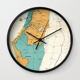 Map of Palestine Plan of Partition with Economic Union Wall Clock