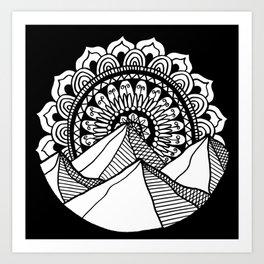Mountain Mandala Art Print