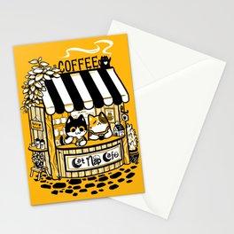 Cat Nap Cafe Stationery Cards