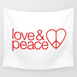Love & peace Wall Tapestry