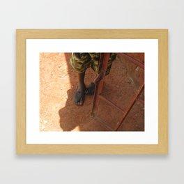 Precious Feet Framed Art Print