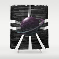 saturn Shower Curtains featuring Saturn by Isaak_Rodriguez