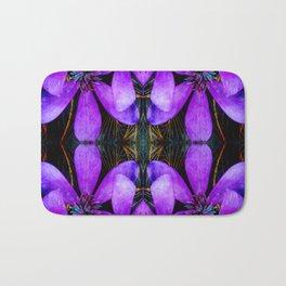 Purple flower geometry IV Bath Mat