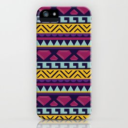 Aztec pattern iPhone Case