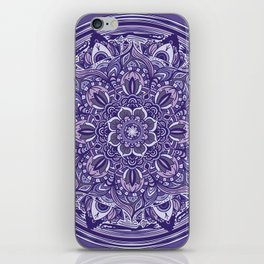 Great Purple Mandala iPhone Skin