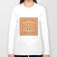 ashton irwin Long Sleeve T-shirts featuring Syphilis Tapestry by Alhan Irwin by Microbioart
