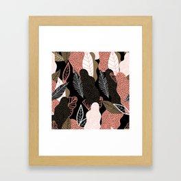 Naive Black Framed Art Print