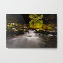 Easy flowing water in autumn Metal Print