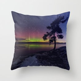 Northern Shimmer Throw Pillow