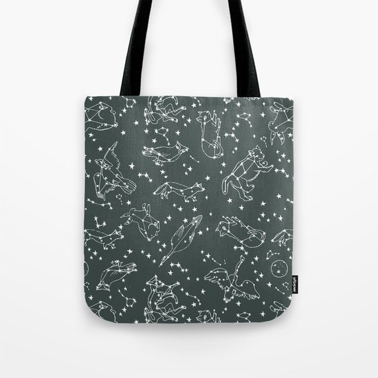 Animal Constellations - Gray by Andrea Lauren Tote Bag