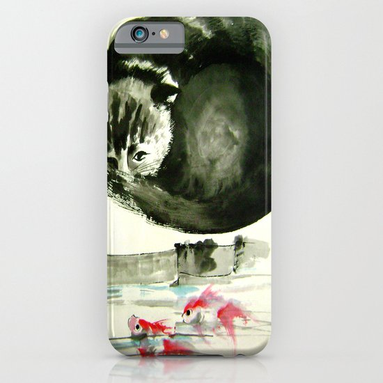 cunning cat iPhone & iPod Case