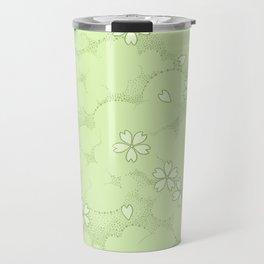 Kumori Nochi Sakura: Green Travel Mug